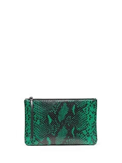 Snake Print Medium Zip Pouch