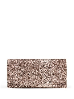 Glitter Essential Flap Clutch
