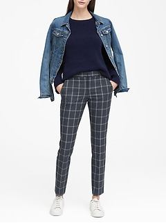 Ryan Slim Straight-Fit Washable Windowpane Pant
