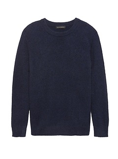 Petite Chunky Metallic Crew-Neck Sweater