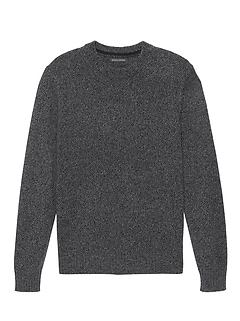 Italian Merino Crew-Neck Sweater