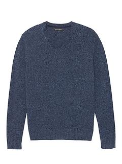 Italian Merino WoolV-Neck Sweater