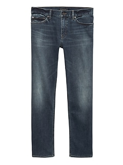 Straight Rapid Movement Denim Medium Wash Jean
