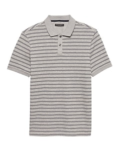 Luxury-Touch Allover Stripe Polo