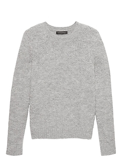 Bouclé Crew-Neck Sweater