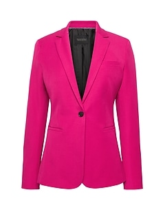 Long and Lean-Fit Bi-Stretch Solid Blazer
