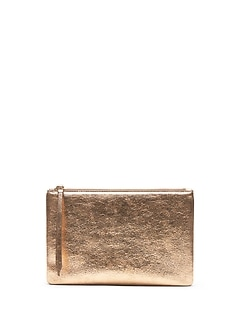 Metallic Medium Zip Pouch