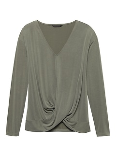 Sandwash Modal Blend Twist-Front Top