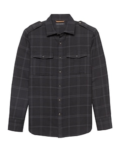 Heritage NEW Slim-Fit Flannel Plaid Shirt Jacket
