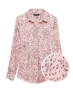 Petite Dillon Classic-Fit Ditsy Floral Shirt
