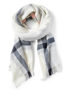 Plaid Rectangular Scarf