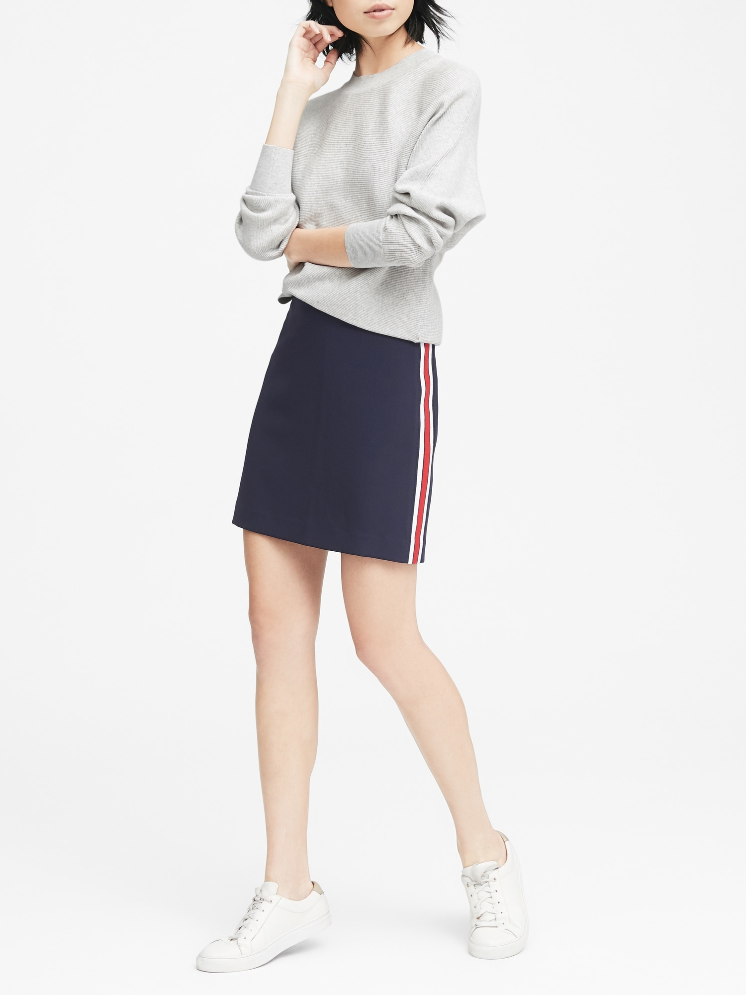 32e165691 Side-Stripe Mini Skirt | Banana Republic