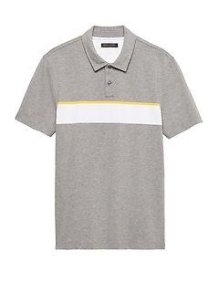 Don't-Sweat-It Wide Chest Stripe Polo