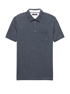 Don't-Sweat-It Oxford Stripe Polo