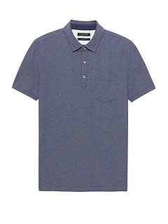 Don't-Sweat-It Mini Stripe Polo