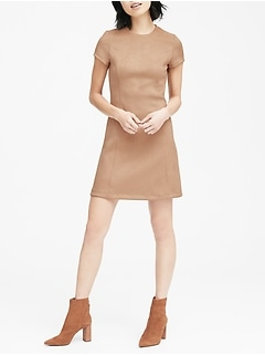 Vegan Stretch-Suede Mini Dress