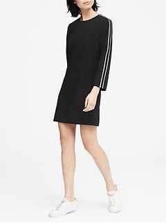 Side-Stripe Shift Dress