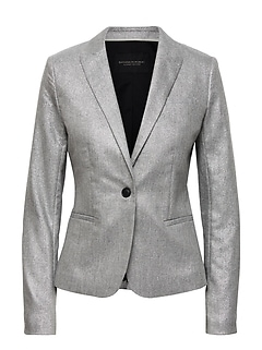 Classic-Fit Metallic Blazer