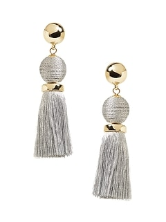 Classic Bauble Tassel Earrings