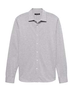 Grant Slim-Fit Performance Knit Textured Shirt