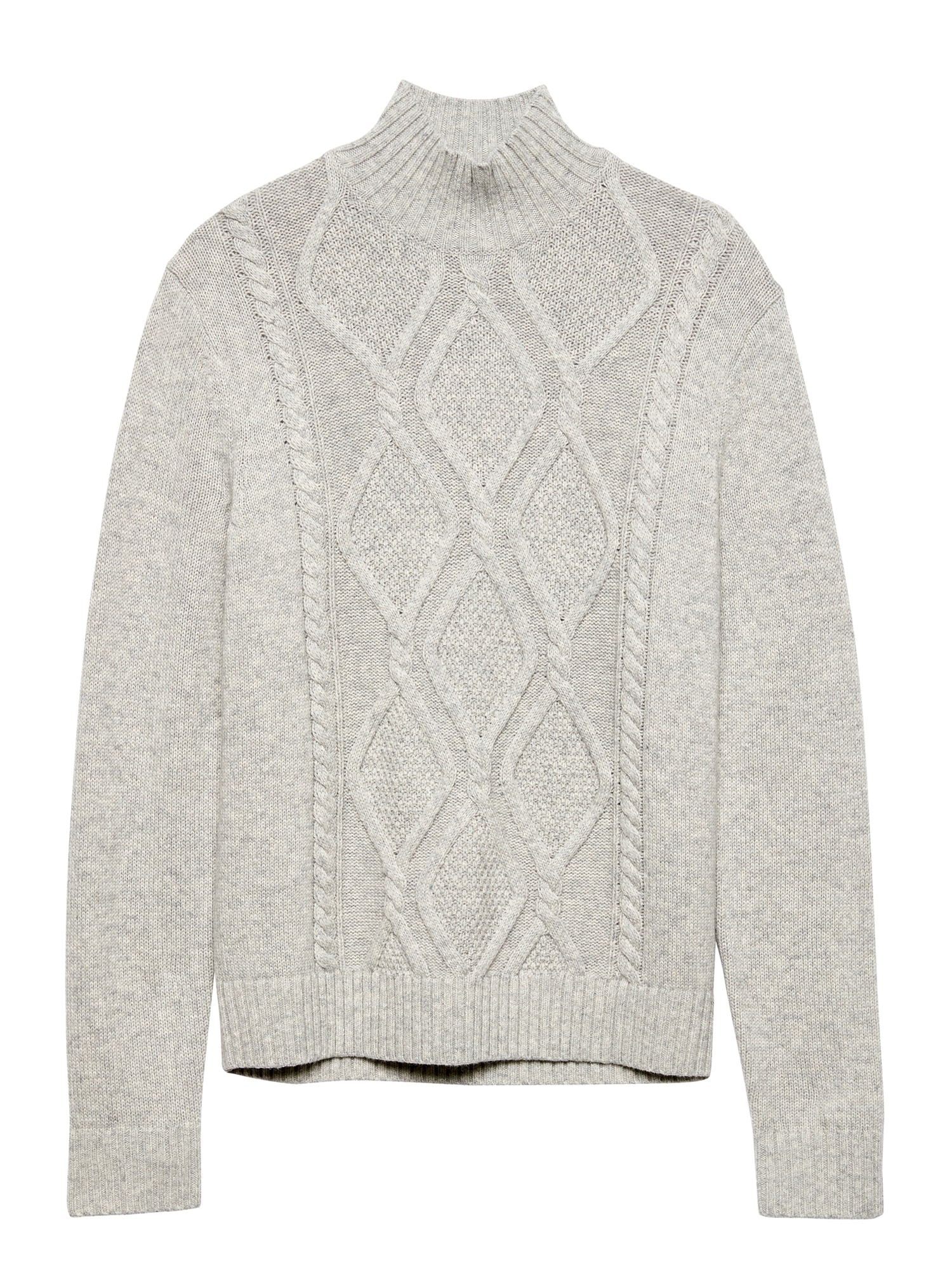 cd4c3efc94e70 Cable-Knit Mock-Neck Sweater