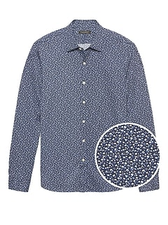 Grant Slim-Fit Floral Performance Knit Shirt