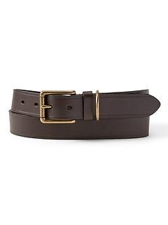 D-Ring Keeper Leather Belt