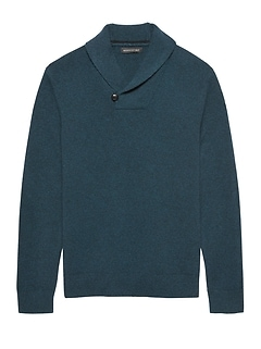 Italian Merino Shawl-Collar Sweater