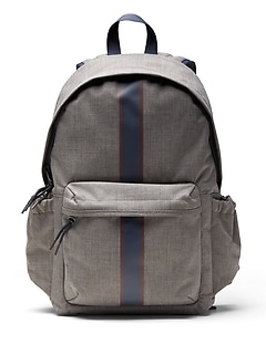 Heathered Racing Stripe Backpack