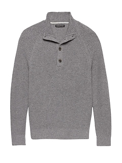 Italian Merino Blend Mock-Neck Sweater
