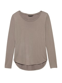 Sandwash Modal Scoop-Neck T-Shirt