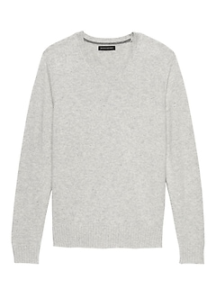 Italian Merino Wool V-Neck Sweater
