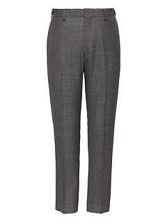 Heritage Slim Tapered Cropped Plaid Suit Pant