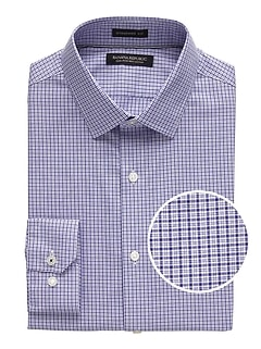 Camden Standard-Fit Non-Iron Tattersall Dress Shirt