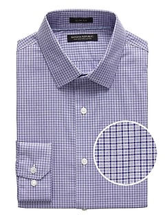 Grant Slim-Fit Non-Iron Tattersall Dress Shirt