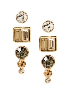 Gold Multi Stud Earring Set