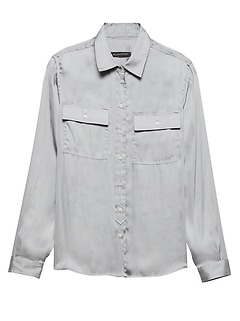 Dillon Classic-Fit Soft Satin Utility Shirt