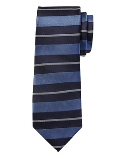 Collegiate Stripe Silk Nanotex® Tie