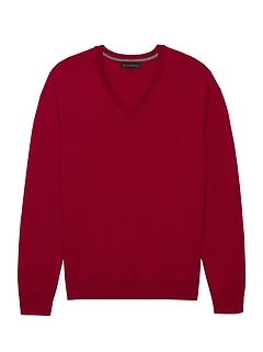 Italian Merino V-Neck Sweater