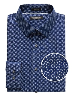 Grant Slim-Fit Non-Iron Confetti Print Dress Shirt