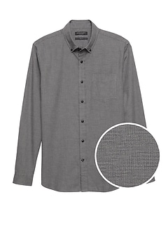 NEW Slim-Fit Luxe Flannel Houndstooth Shirt