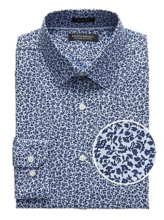 Grant Slim-Fit Non-Iron Floral Dress Shirt