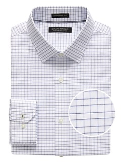 Camden Standard-Fit Non-Iron Mini Grid Dress Shirt