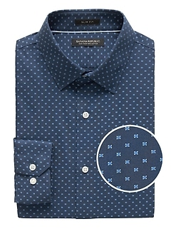 Grant Slim-Fit Non-Iron Print Shirt