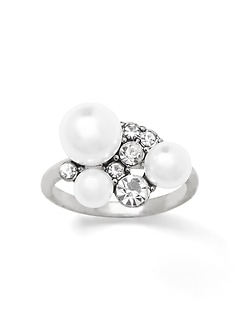 Stone and Pearl Ring