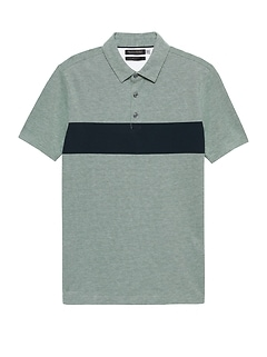 Don't-Sweat-It Chest-Stripe Polo