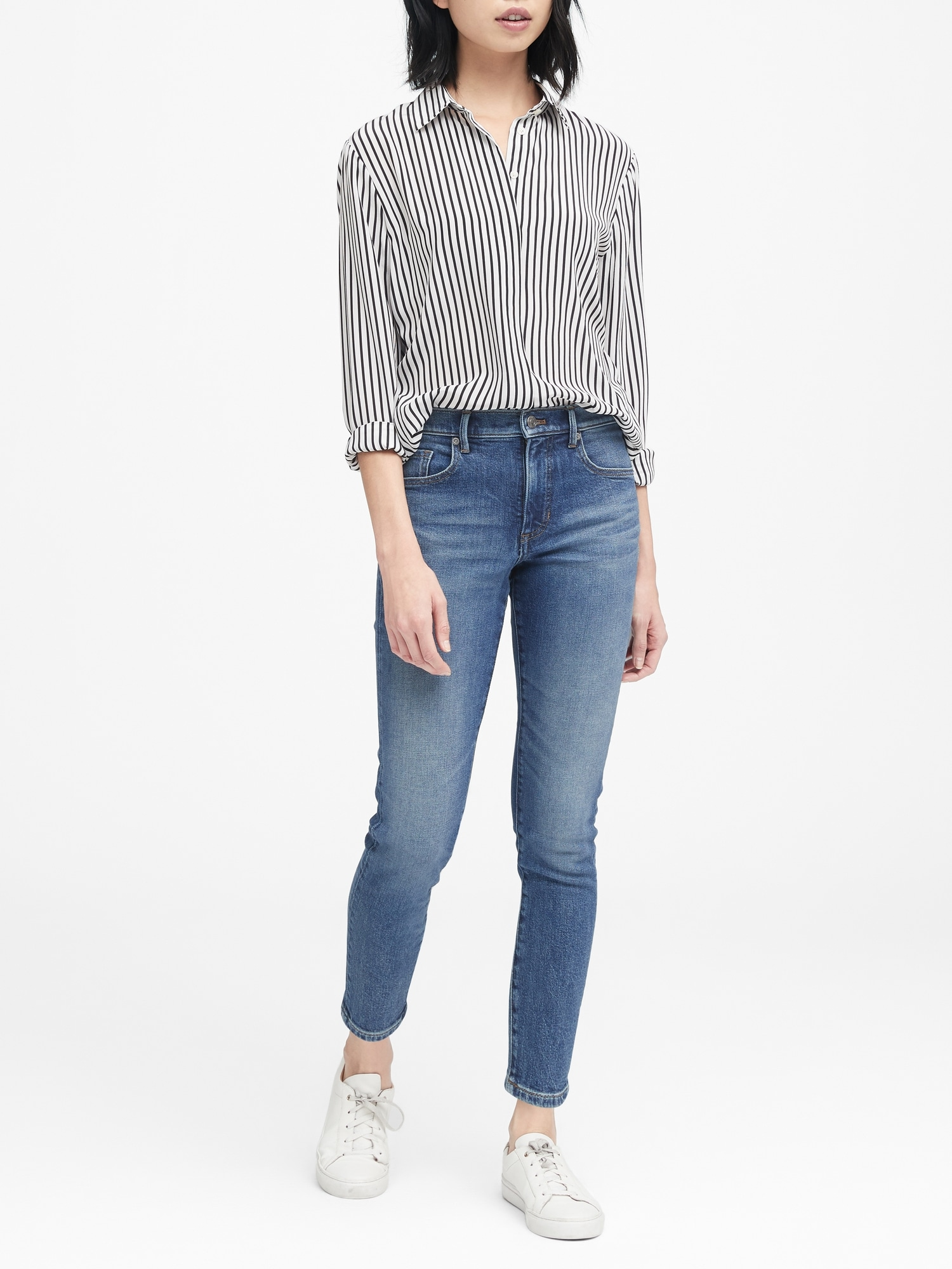 Banana Republic High-Rise Straight Ankle Jean