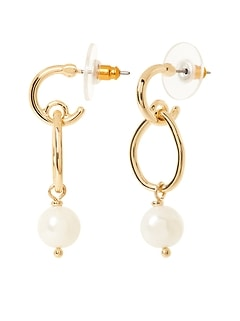 Classic Pearl Dangle Earrings