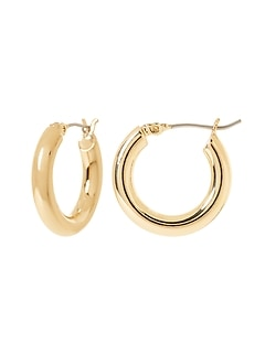 Small Hollow Hoop Earrings
