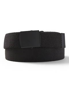Stretch Webb Plaque Buckle Belt